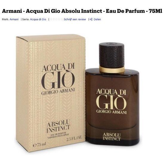 Armani Acqua di Gio Absolu Instinct review